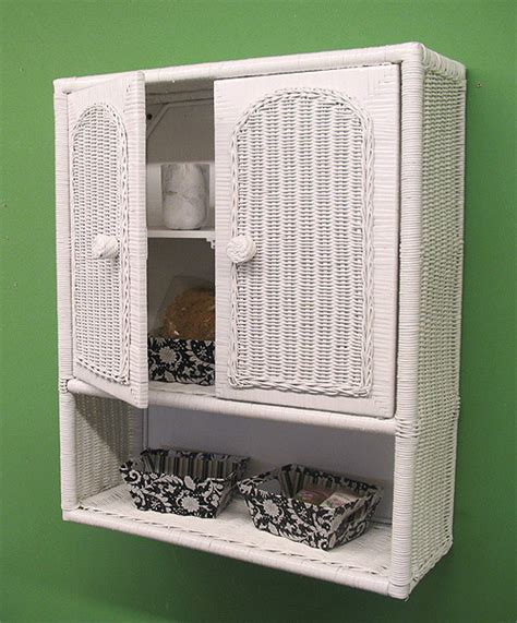 wicker wall cabinet
