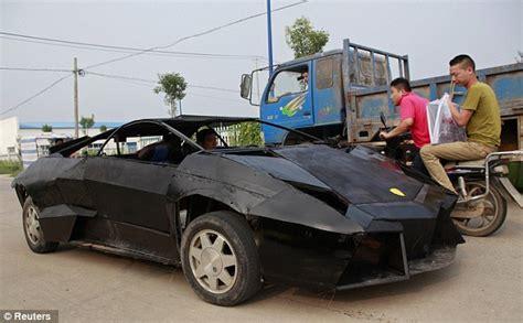 fake ferrari funny chinese farmer builds replica of 1m lamborghini for just