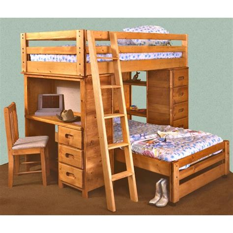 bed with built in desk trendwood bunkhouse twin twin bronco loft bed with built