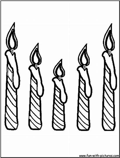 Candle Coloring Birthday Candles Pages Drawing Cake