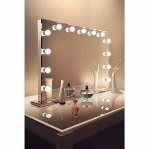 Miroir Avec Lumière Autour : miroir de maquillage hollywood finition miroir del graduables blanc chaud k253ww achat prix ~ Melissatoandfro.com Idées de Décoration