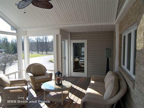 screened porch  fiberon ipe composite flooring