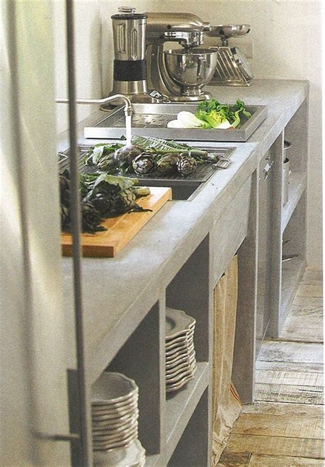 minimalist concrete kitchen countertop ideas digsdigs