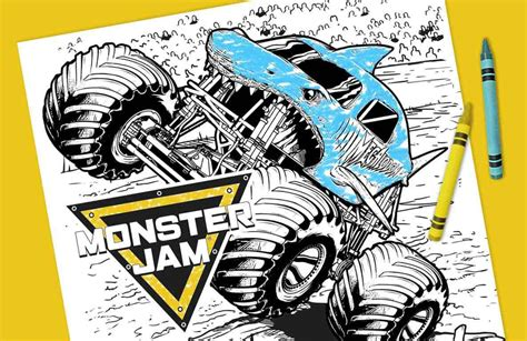 monster jam coloring sheets printable toys