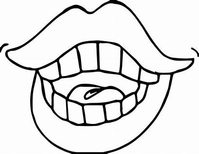 Teeth Coloring Pages Vampire Clipart Mouth Drawing