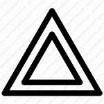 Triangle Icon Shape Icons Object Outline Vector