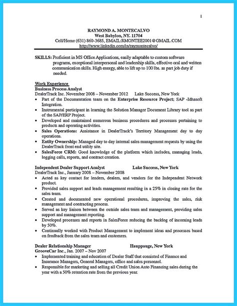 Bullet Format Resume by Create Your Astonishing Business Analyst Resume And Gain The Position