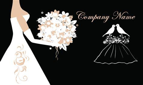 black wedding coordinator business card design