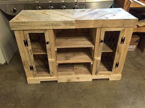 Kitchen Cabinet Doors From Pallets by Pallet Kitchen Cabinet Pallet Furniture