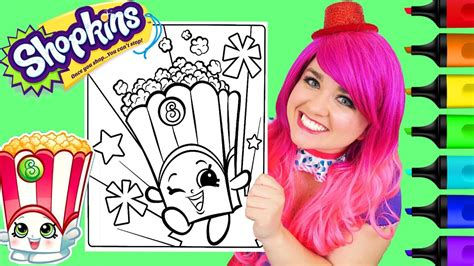 Coloring Kimmi by Coloring Shopkins Poppy Corn Coloring Book Page