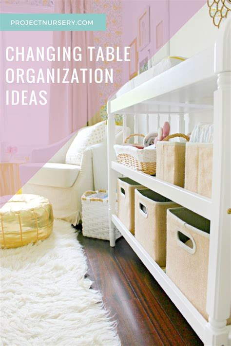 changing table organization ideas set your changing table up for success changing table