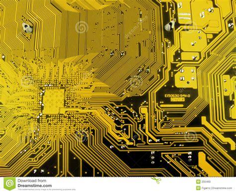 Electronic Computer Circuit Board Stock Photo Image