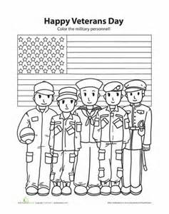 Coloring Page Veterans Day Worksheets