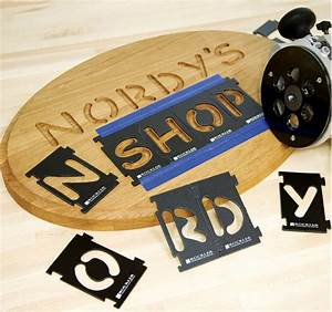 can a router inlay kit work with letter templates woodworking With router lettering guide