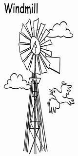 Windmill Windmills sketch template