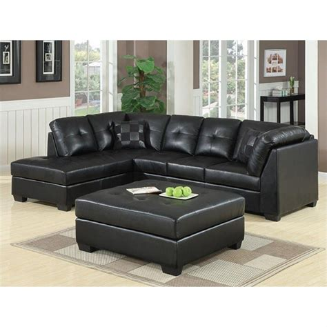 coaster leather sectional sofa coaster darie leather sectional sofa with ottoman in black