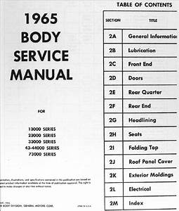 1965 Buick Special And Skylark Body Repair Shop Manual