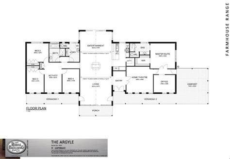 One Story Floor Plan With 5 Bedrooms, Open Family/kitchen