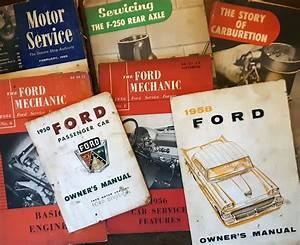 1950 U0026 39 S Ford Owner Manuals  1950  U0026 1958  And Ford Service
