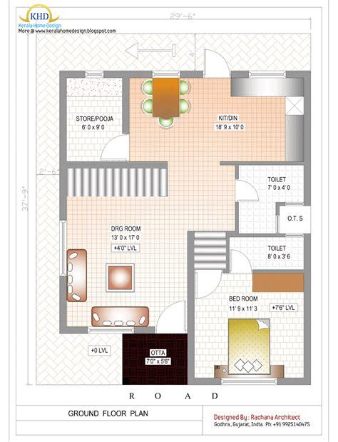 duplex house plan  elevation  sq ft home design