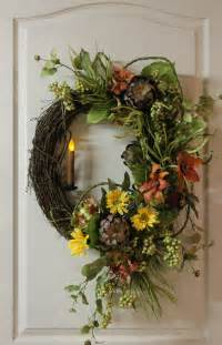 items similar to front door wreath country candle wreath summer wreath fall wreath country