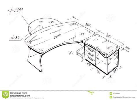 dessin de bureau retrait de dessin à levée moderne de bureau de