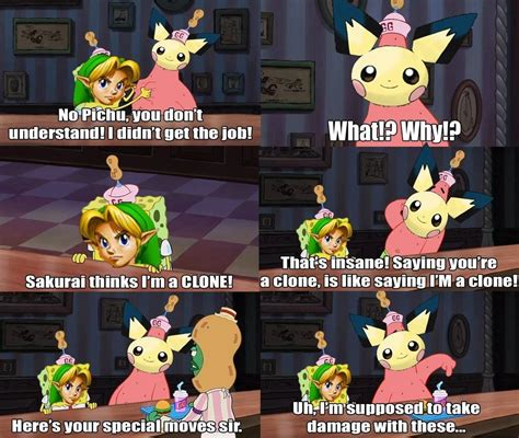 pichu   cheer  young link super smash brothers