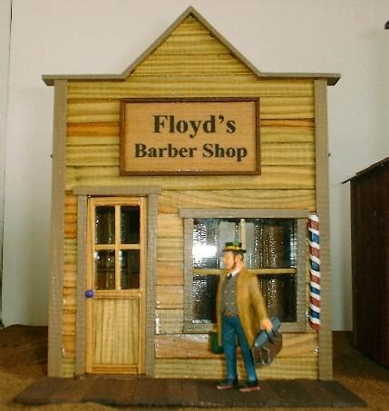 smith pond junction railroad barber shop front kit