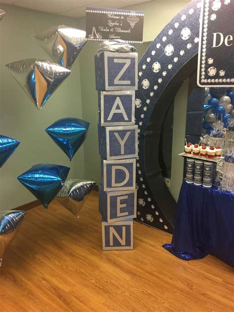 Backdrop Denim Themed by Denim And Dismonds Baby Shower Ideas Photo 1 Of 18