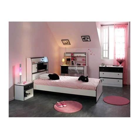 chambre a coucher complete adulte pas cher chambre fille 4 pièces avec bureau disco et blanche