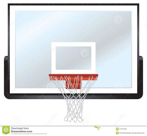 basketball rim  backboard stock illustration