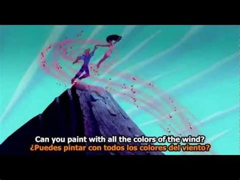 colors of the pocahontas colors of the wind subtitles