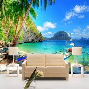 Papel De Parede 3D Beautiful Seaside Landscape Nature ...