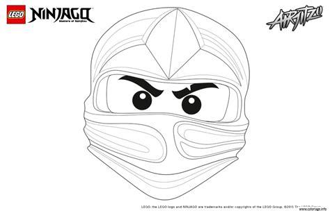 coloriage ninjago lego visage kai dessin