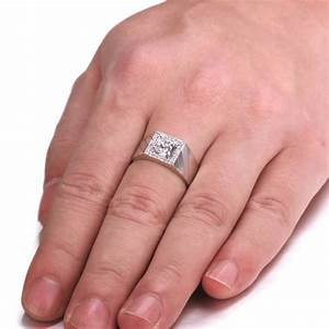 men diamond wedding ring band for him in sterling silver With silver wedding rings for him
