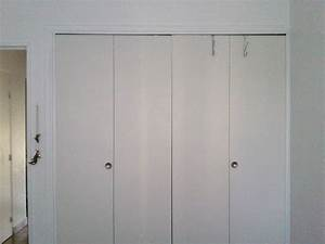 probleme portes pliantes accordeon de placard armoire With porte de placard accordeon
