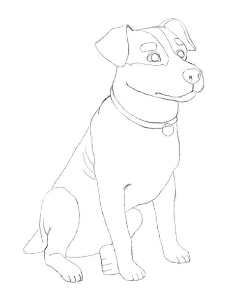 dog drawing  easy