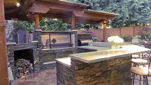 outdoor kitchen designs with pizza oven kitchen decor With outdoor kitchen pizza oven design
