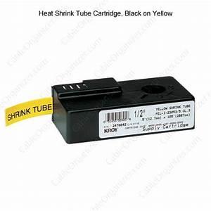 printer cartridges for kroy k series industrial label With heat shrink label maker