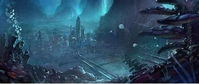 Underwater Deviantart Nkabuto Atlantis Concept Sci Fi