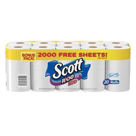 Scott 1000 Toilet Paper, Bonus Pack, 20 Rolls Walmartcom