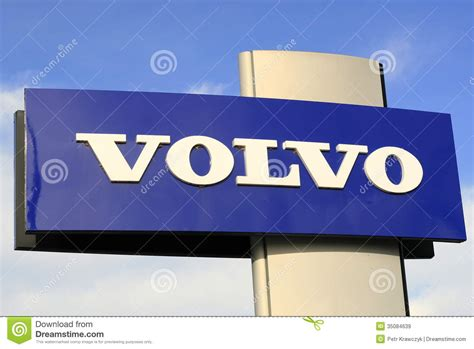 volvo sign editorial stock image image