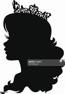 Princess Cameo Silhouette Wearing Crown Vectorkunst ...