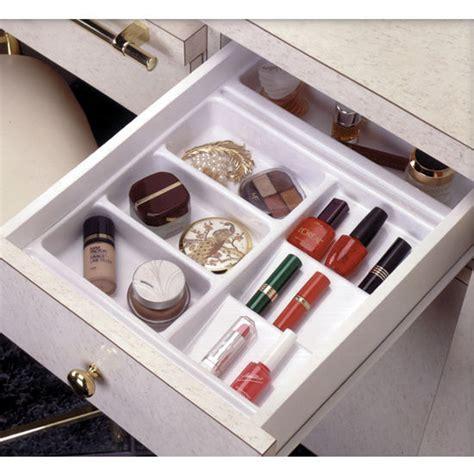 makeup drawer organizer rev a shelf vanity cosmetic drawer organizer base trays