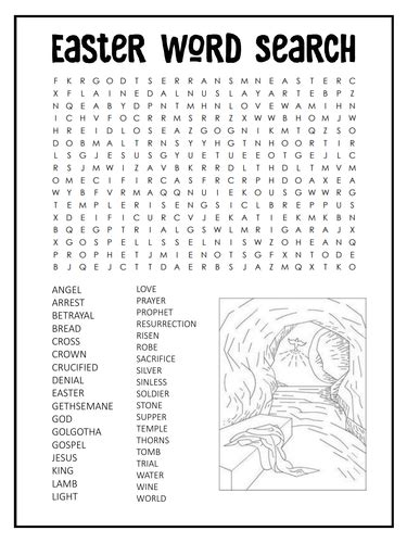 easter word search bundle sunday school activity jesus bunnies and chocolate by sash83