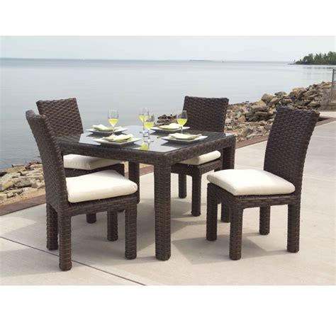 lloyd flanders contempo parsons outdoor wicker dining set