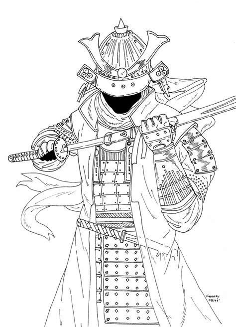 coloriage samourai en couleur dessin gratuit  imprimer