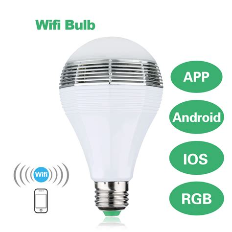 e26 e27 wifi led rgb light bulb l for iphone