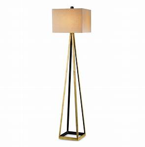 hollywood regency gold leaf satin floor lamp kathy kuo home With silver foil floor lamp