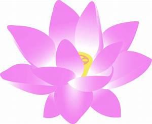 Pink Lotus Flower Clip Art at Clker.com - vector clip art ...